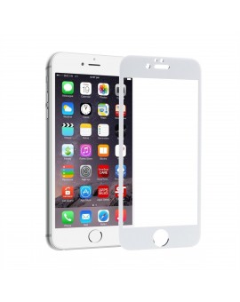 Apple iPhone 6 / 6S White Colour HD Crystal Clear 5D Tempered Glass Screen Protector