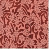 High Quality Crushed Cotton Floral Print  Long Nighty - Coral with Burgundy